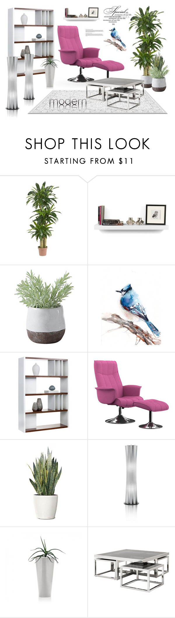 """nice"" by jana-masarovicova ❤ liked on Polyvore featuring interior, interiors, interior design, home, home decor, interior decorating, Nearly Natural, TemaHome, Torre & Tagus and Sunpan"