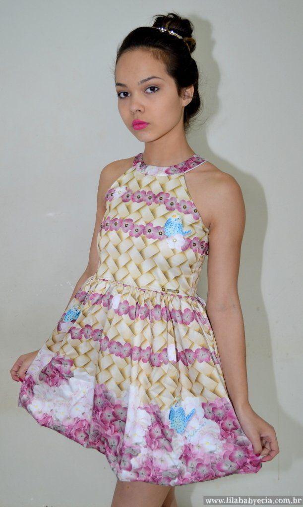 3bda49562 Vestido Infantil Diforini Moda Infanto Juvenil 010765 na internet