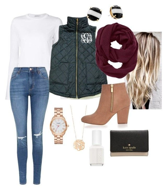 Preppy outfit by rosiek0303 on Polyvore featuring polyvore, fashion, style, T By Alexander Wang, Topshop, River Island, Kate Spade, Ginette NY, Athleta, Essie and clothing