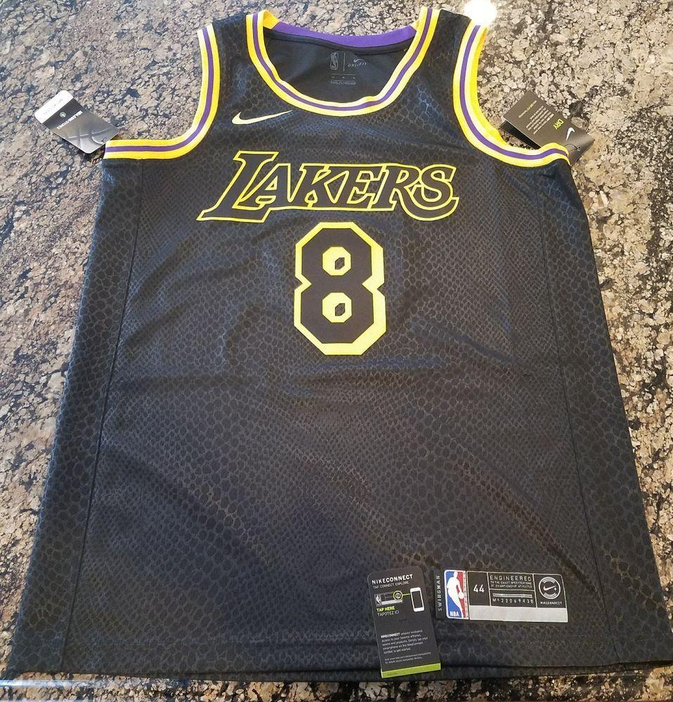 Nike Kobe Bryant Lakers Authentic Jersey #8 Black Mamba Lore Size ...