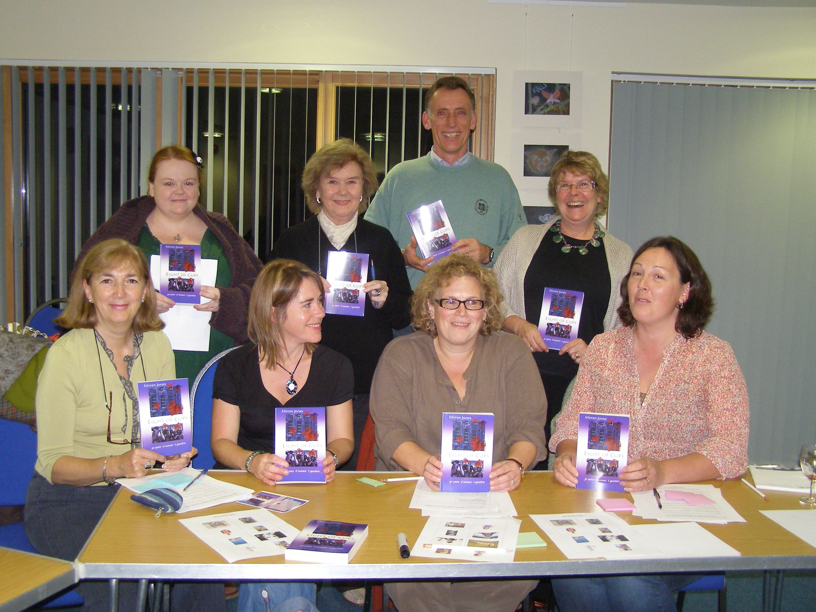 Happy participants at the end of a Mirren Jones Writing Workshop (Is there a Book in You?)