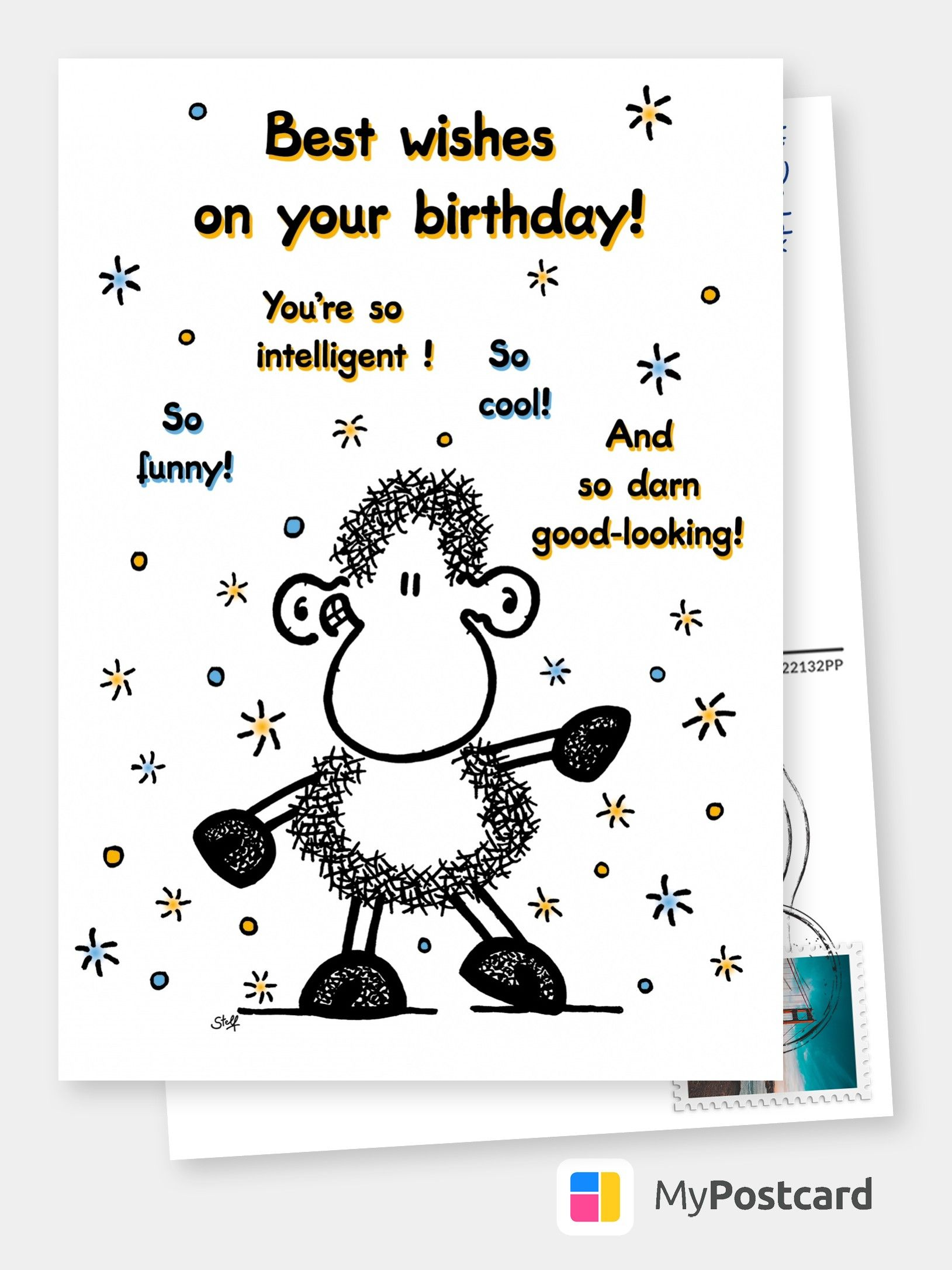 Best Wishes On Your Birthday Comic Cartoon Cards Send