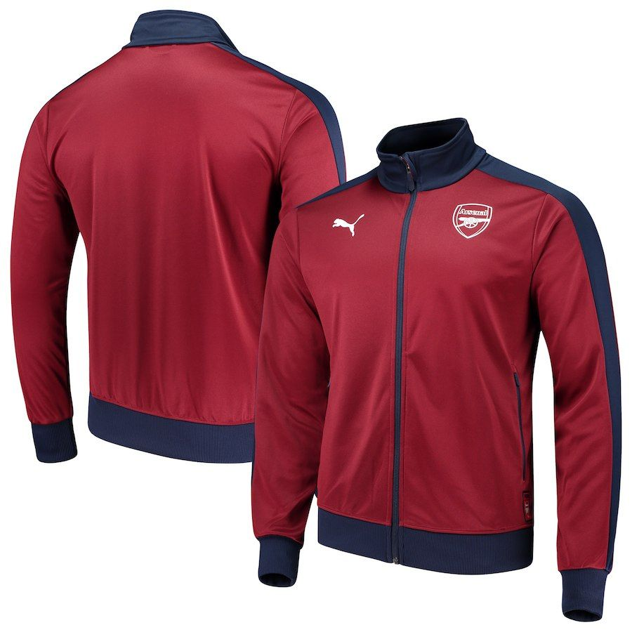 Puma Arsenal Red/Navy Fan DryCELL FullZip Track Jacket