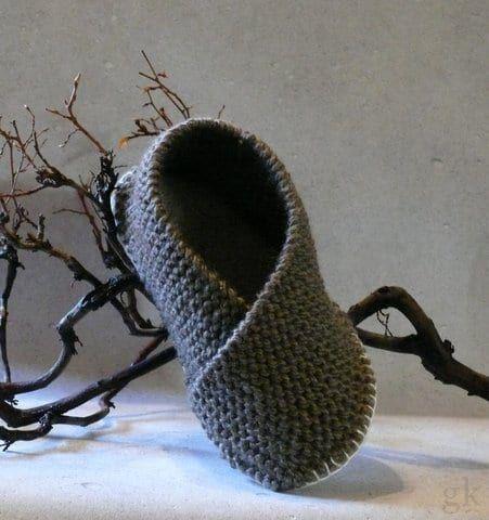 Pantoffel ganz einfach selber stricken - HANDMADE Kultur #knit Dicke Strickpanto...