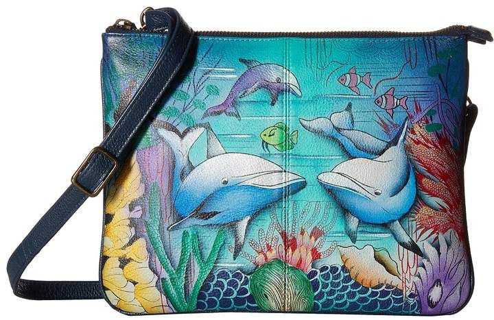 Dolphin Tote Bag Shoulder Bag CUTE DOLPHIN DESIGN Sling Style or Cross Body Bags