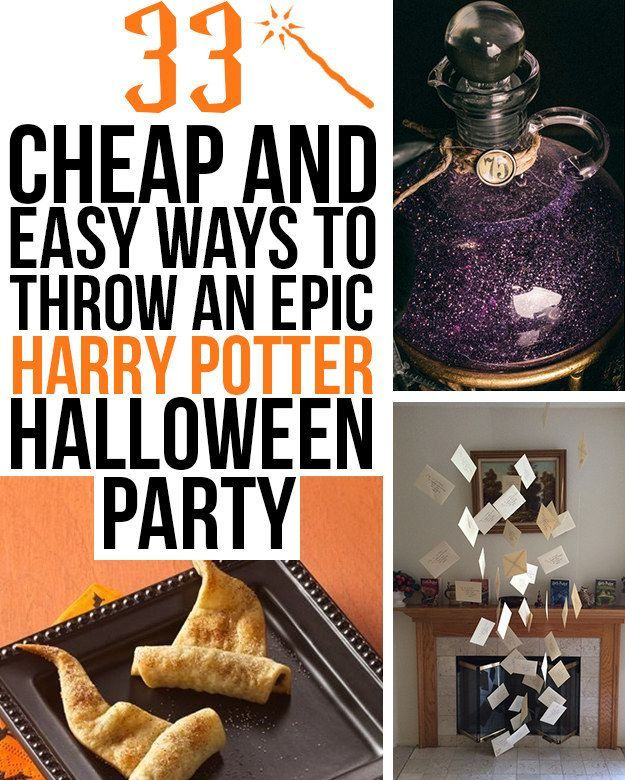 33 cheap and easy ways to throw an epic harry potter halloween party harry potter als motto. Black Bedroom Furniture Sets. Home Design Ideas