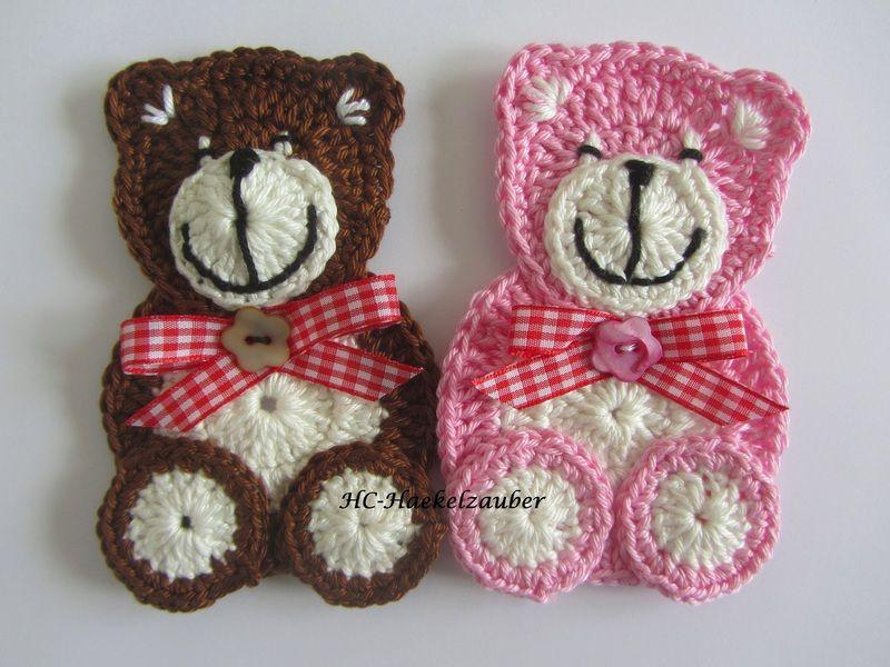 Handgehäkelter Teddy, 100% Baumwolle, Länge 11,5 cm Preis gilt für 1 ...