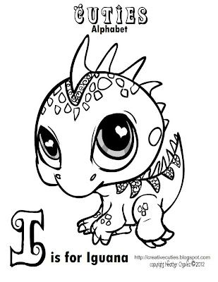 creative cuties iguana coloring page adorable pinterest