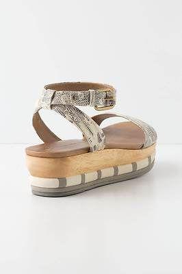 New Anthropologie Merged Platform Sandals Python Leather Schuler Sz 8 Chic Shoes | eBay