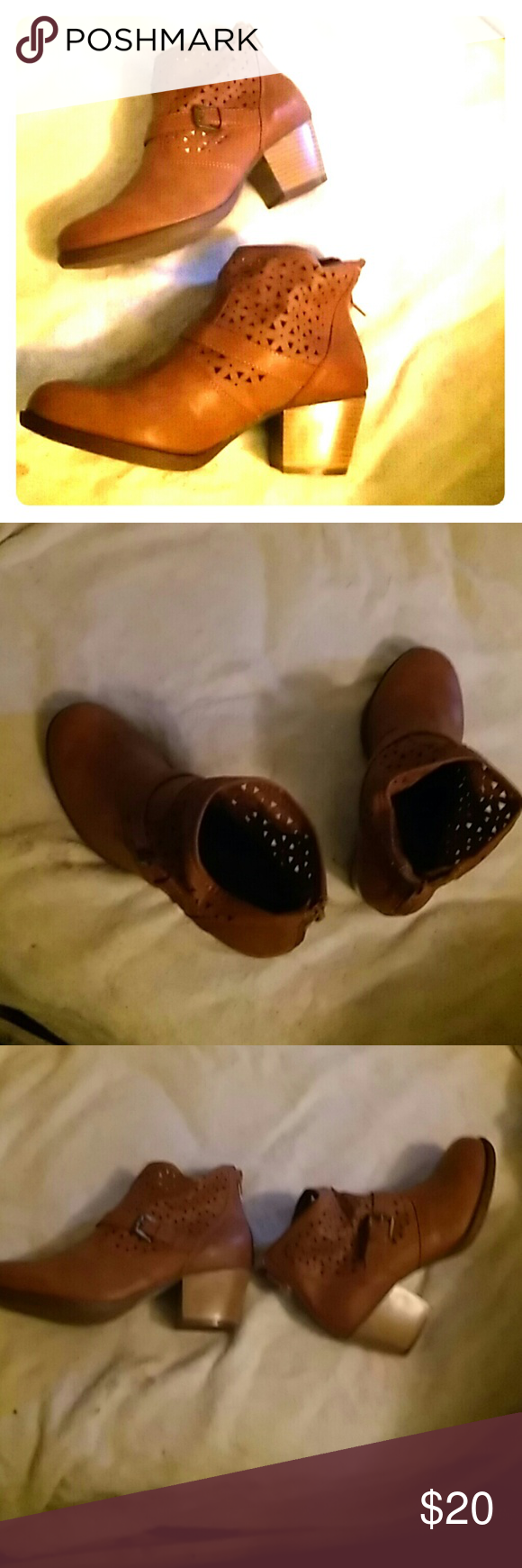 Brown ankle boots Never worn cute boots Sonoma Shoes Heeled Boots