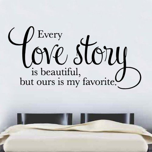 Wandtattoo Every Love Story East Urban Home Farbe: Braun, Größe: Groß
