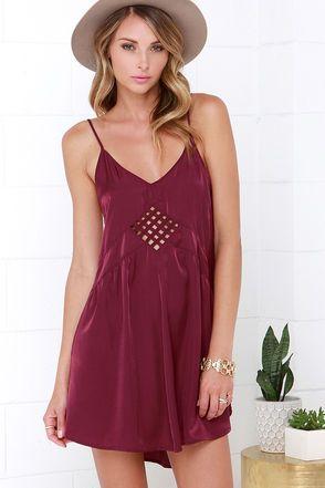 90688c45dee6 Amuse Society Lake Burgundy Slip Dress | Dresses | Dresses, Fashion ...