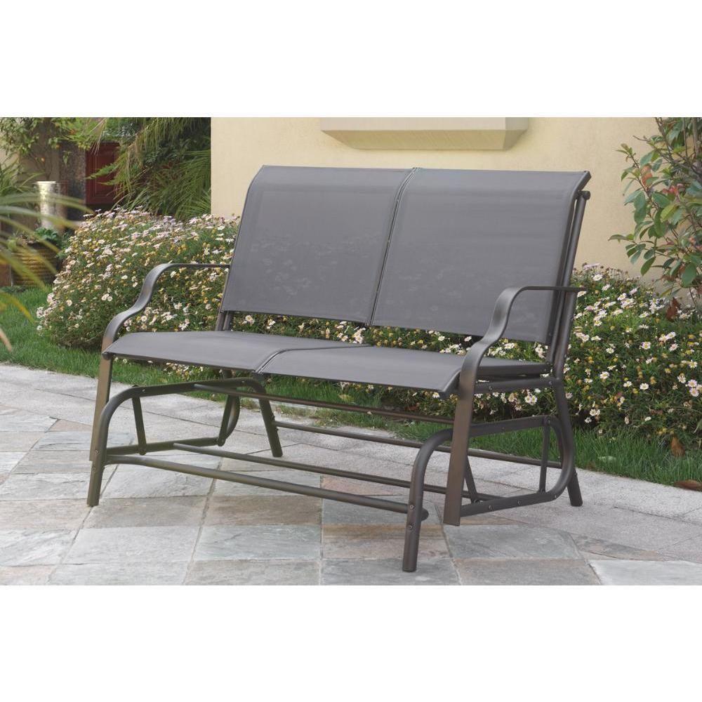 Glider Outdoor Bench Patio Garden Furniture Porch Loveseat Chair