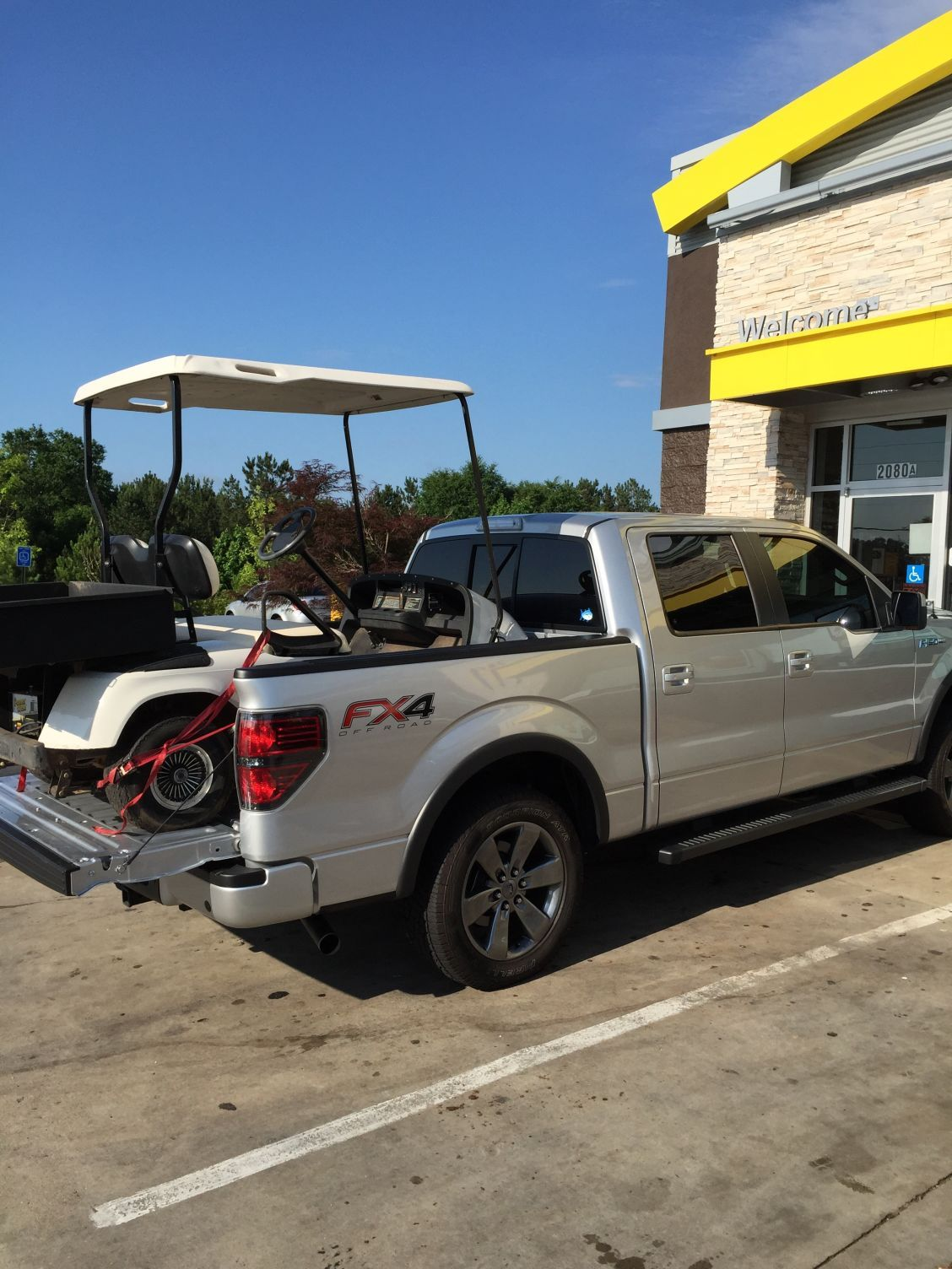 Golf Cart In A 55 Bed Ford F150 Forum Community Of Trailer Electrical Truck Fans