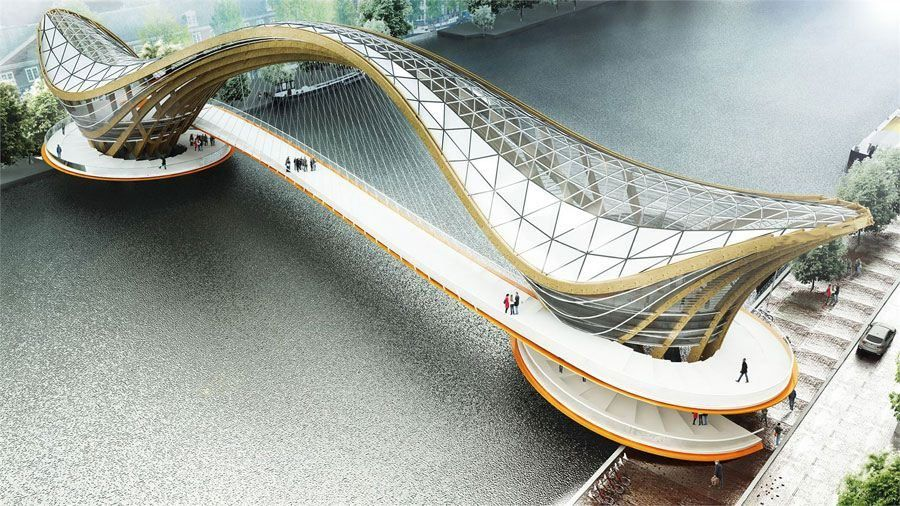 Mixed Use Habitable Bridge For Amsterdam Laurent Saint Val Bridges Architecture Bridge Design Bridge