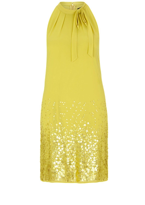 18b65d95d4df3 Schulterfreies Kleid mit Pailletten von s.Oliver. Entdecken Sie jetzt  topaktuelle Mode für Damen