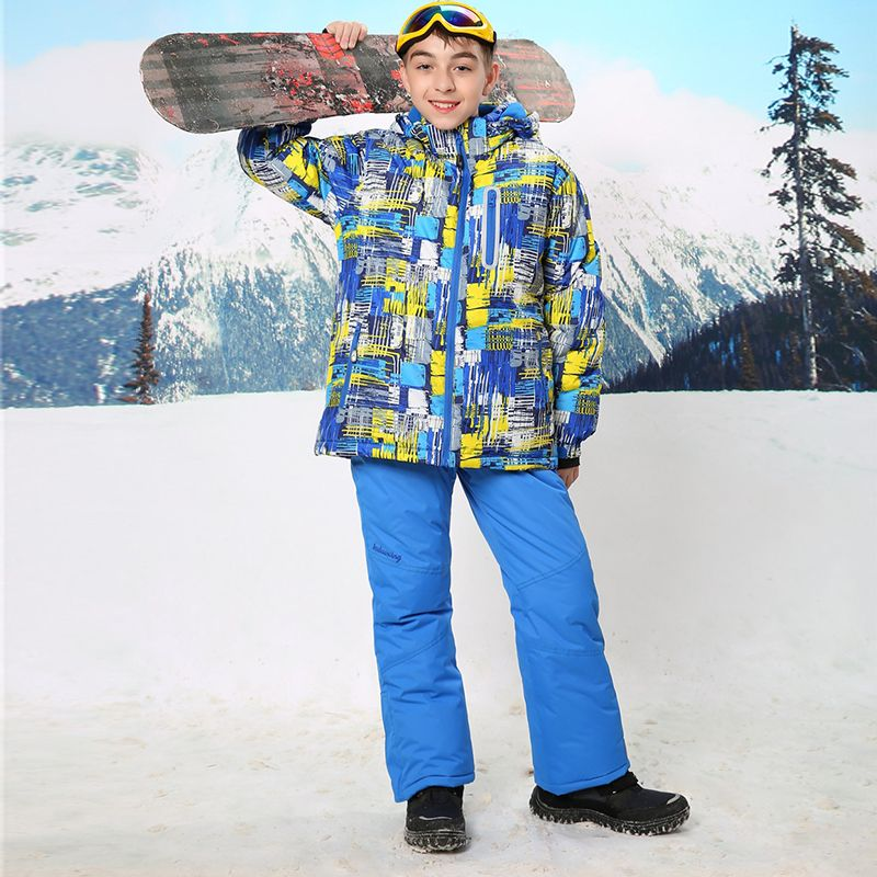 daa8c91a0 Para-30 Grados Cálido Abrigo Deportivo Traje de Esquí Impermeable A Prueba  de Viento niños