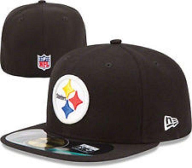 0f8bbe79838 New Era PITTSBURGH STEELERS PA 5950 Black Cap NFL FOOTBALL Fitted Hat 7 3 8   NewEra  PittsburghSteelers