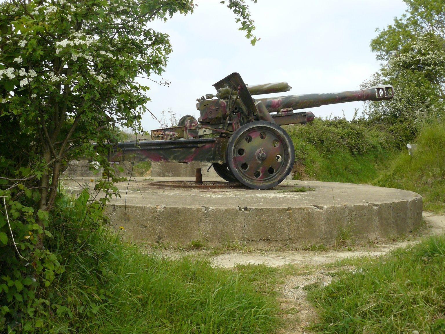 German artillery, Normandy, France