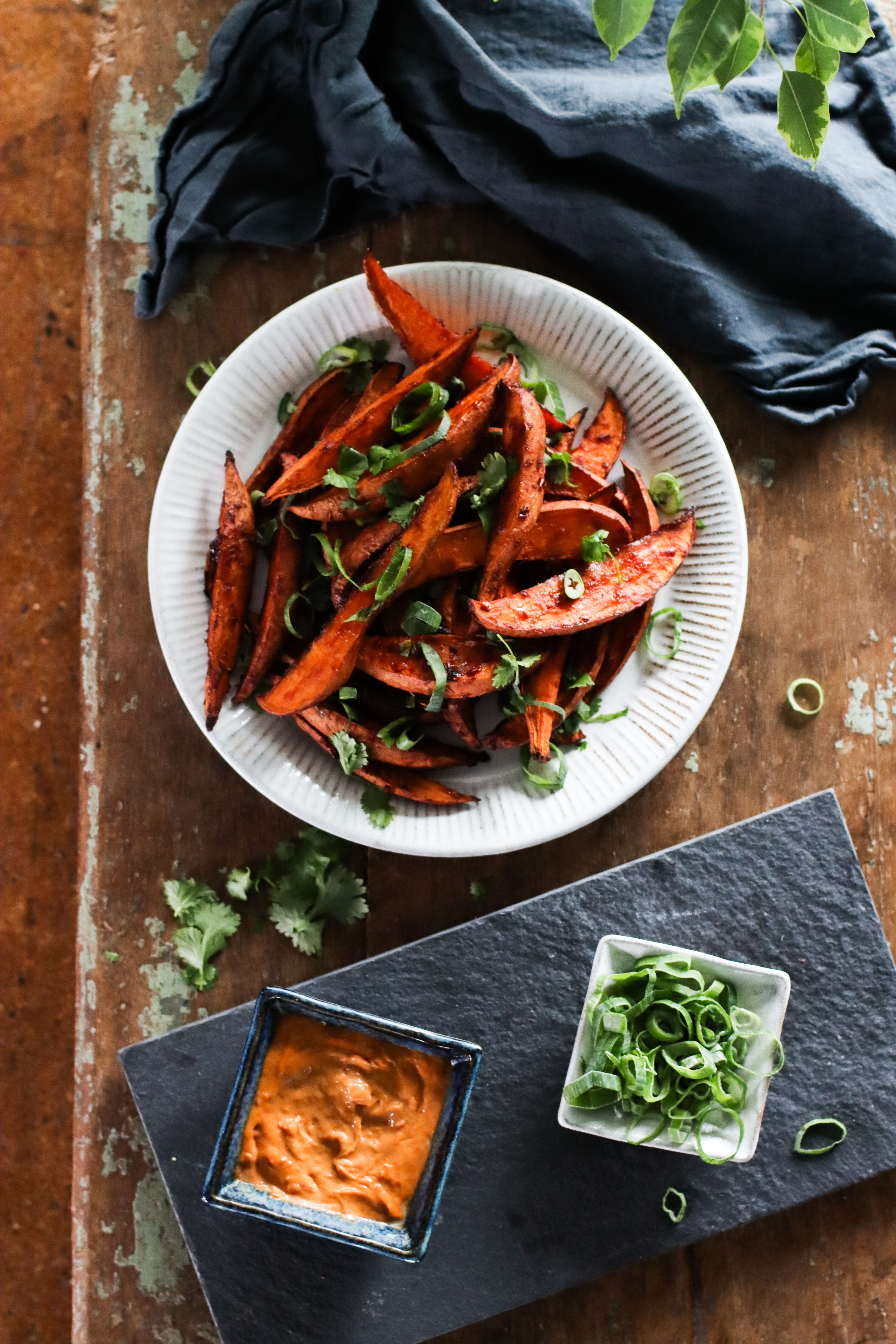 Sweet Spicy Miso Roasted Sweet Potatoes With Sambal Tahini Mayo In 2020 Roasted Sweet Potatoes Sweet And Spicy Veggie Lentil Soup