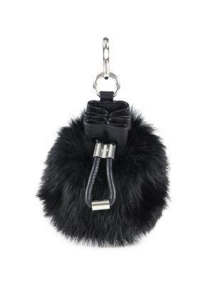 0c3823056f93 ALEXANDER WANG Mini Roxy Rabbit Fur Drawstring Bag Keychain.  alexanderwang   bags  fur