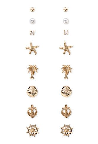 Nautical Motif Earring Set | Forever21 (only 5.90 ...