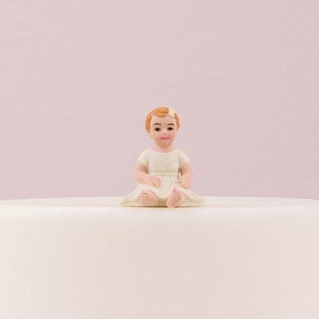 Figurine bapteme fille pour gateau   Gâteaux pour bébé fille, Figurine gâteau de mariage, Idées ...