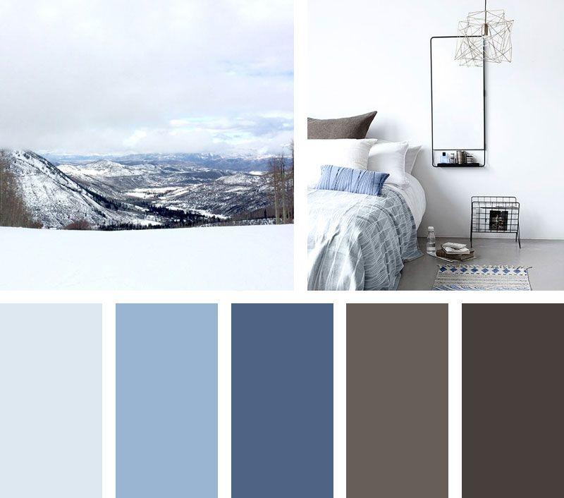 Con Una Mirada Al Horizonte Esta Escena Llena De Colores Abismales Azules Blancos Grise Paletas De Colores Grises Gama De Colores Azules Paleta De Colores Azul