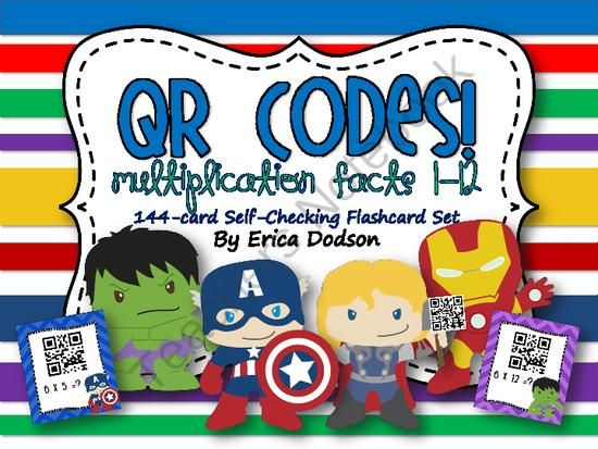 Super Hero Qr Code Multiplication Flashcard Giveaway Enter For