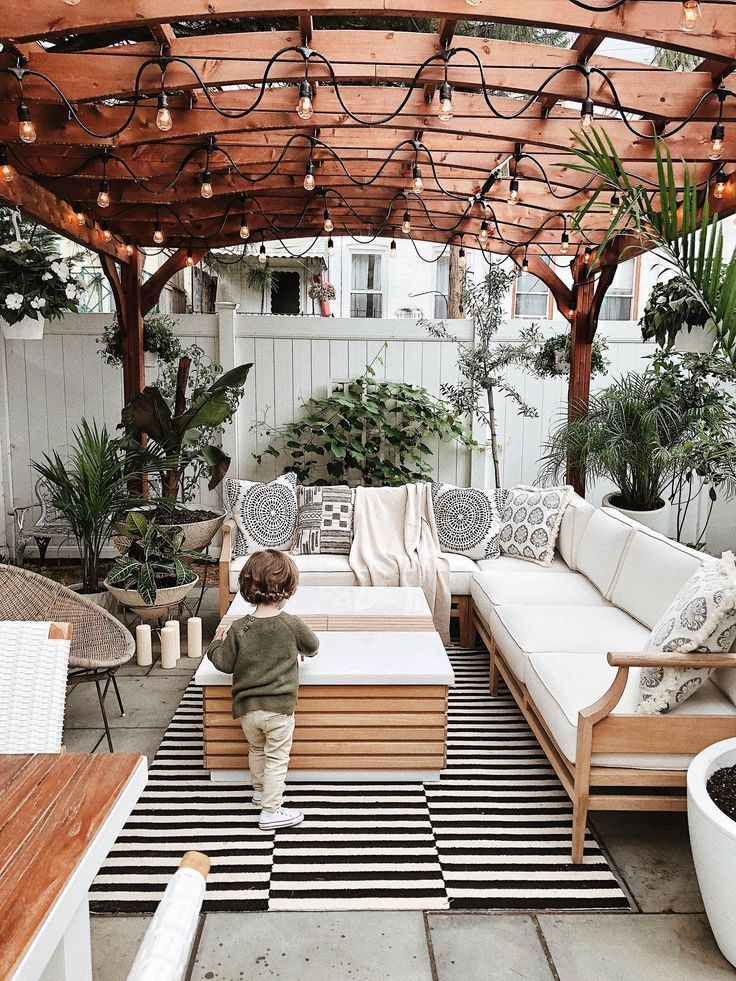 A Preview of Our Backyard - Patio Furniture - Ideas of Patio Furniture #PatioFurniture - Urban backyard backyard inspiration Brooklyn backyard backyard with pergola. #outdoorrugs
