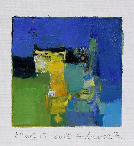 Mar. 17 2015 Original Abstract Oil Painting by hiroshimatsumoto