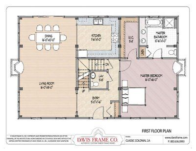 Pole Barn With Living Quarters Plans And Beam Photos And Timber Frame Plans By Davis Frame Febru Loft Floor Plans House Floor Plans Colonial House Plans