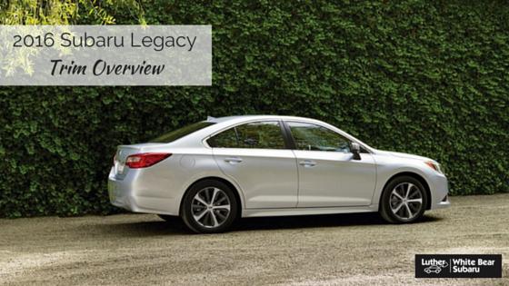 2016 Subaru Legacy For Near Minneapolis Mn Trim Level Overview New