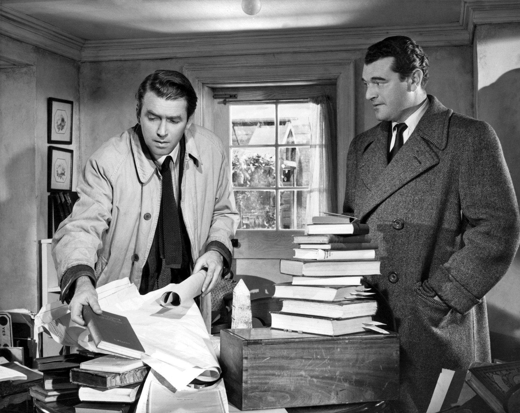 No Highway In the Sky. James Stewart and Jack Hawkins, two great movie actors.