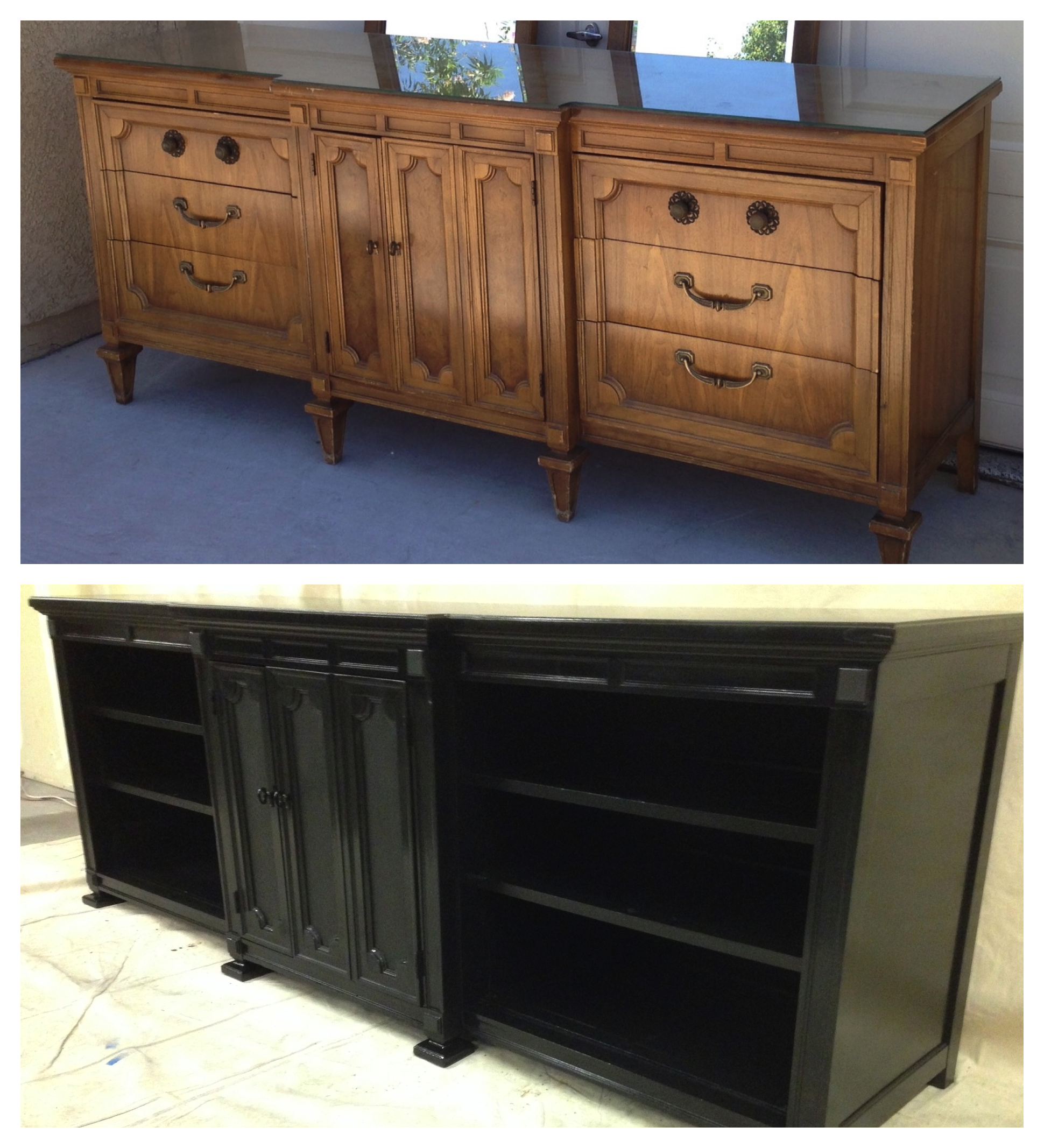 Converted 9 Drawer Dresser Into Tv Stand Media Unit Www Facebook Com Vintagekeyantiques Vintage Shabby Refinished Painted Before And After