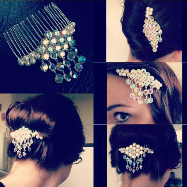 Beehive Hairstyles For Wedding: 1960s AB Crystal Beehive Comb...versatile Wedding Hair