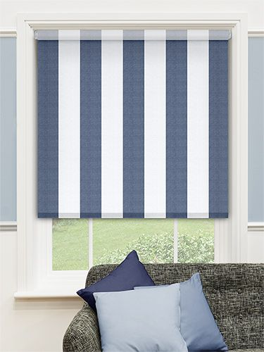 Choices Amelie Delft Blue Roller Blind From Blinds 2go Bath Room