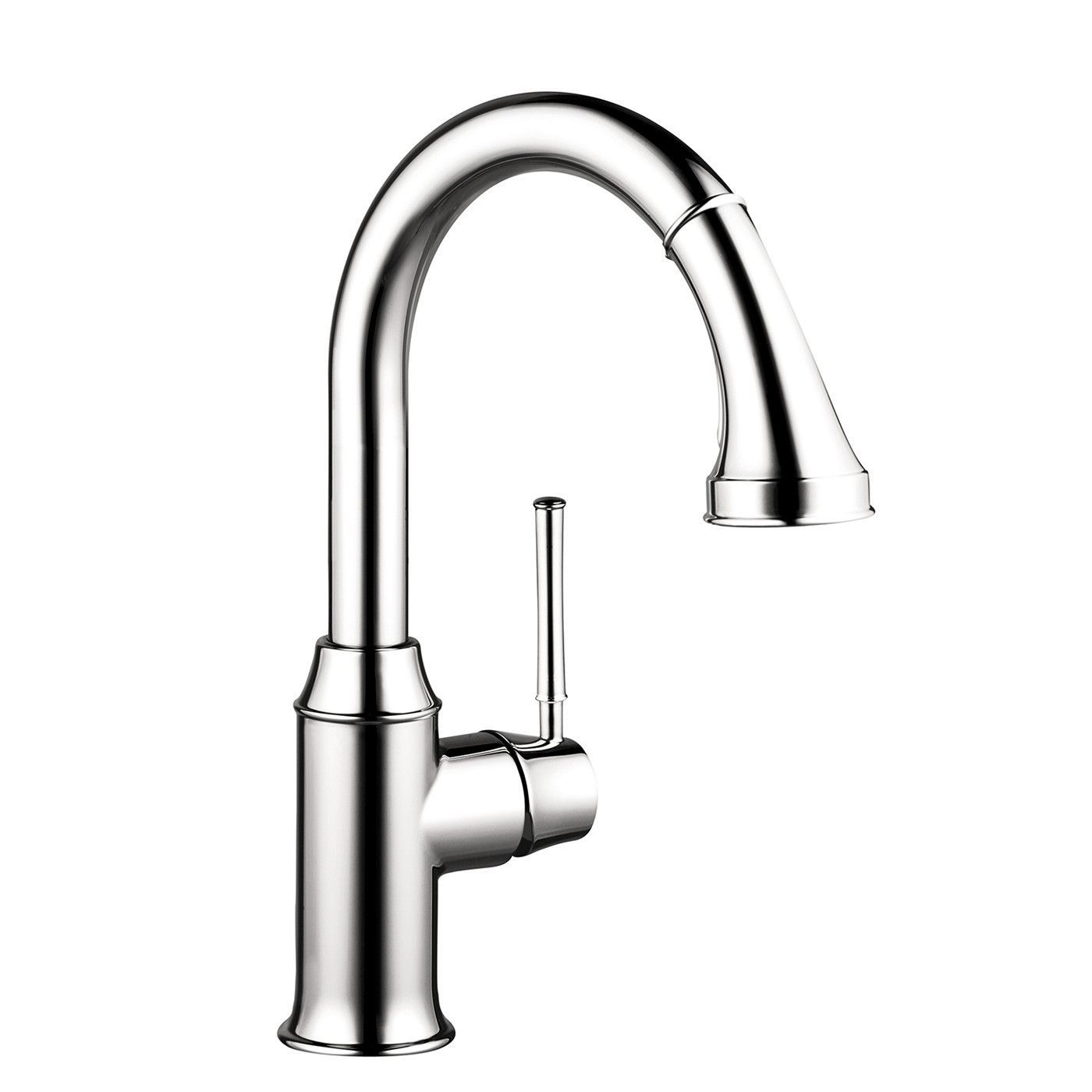 Hansgrohe 04216000 Chrome Talis C Pull-Down Prep Kitchen Faucet with ...