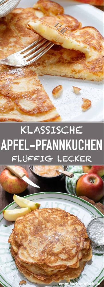 Apple pancakes classic and fluffy  easy to cook  Apple pancakes classic and fluffy  easy to cook