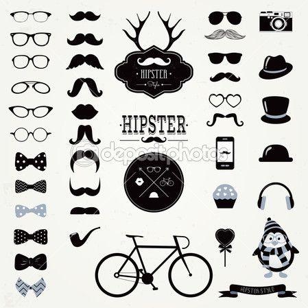 Hipster Retro Vintage Icon Set Stock Illustration 37877235 Hipster Animals Vintage Icons Retro