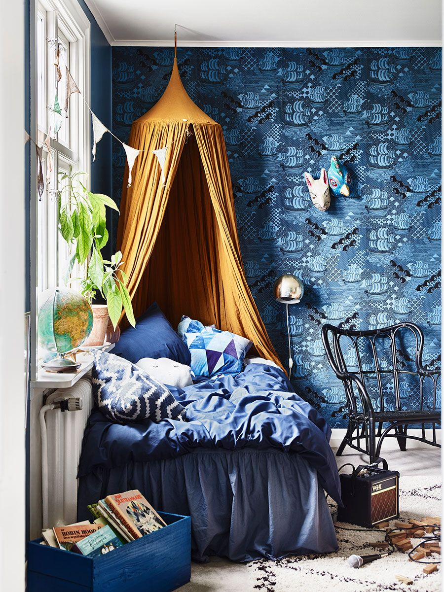 House Tour A Swedish Home In Bold Blues