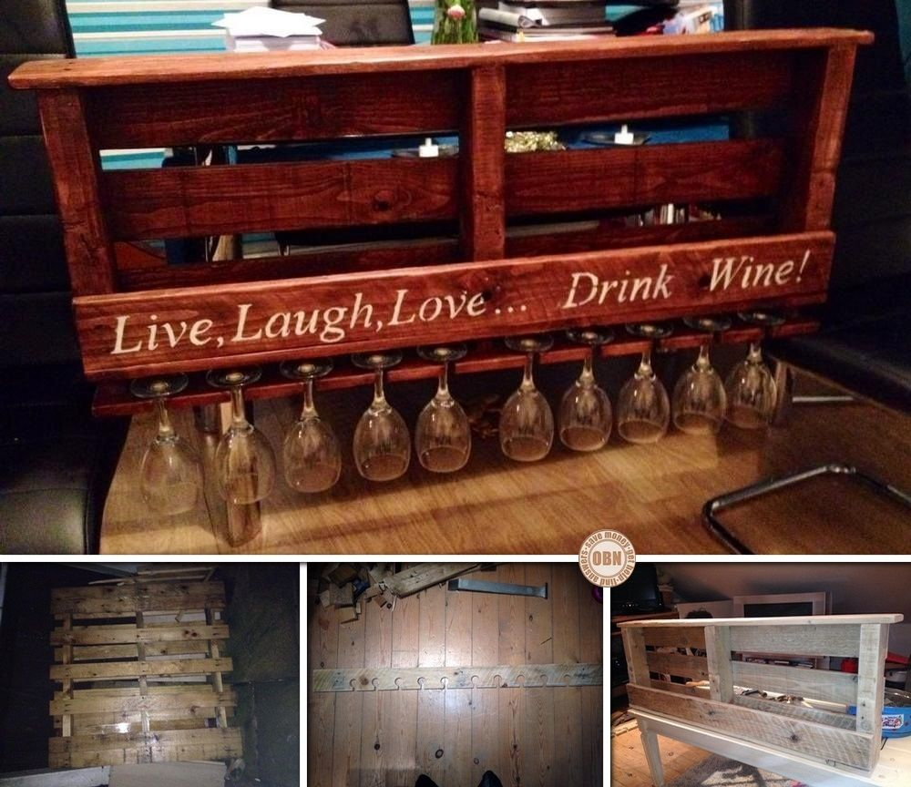 Here S A Diy Pallet Wine Rack Sent To Us By Fan Paul Mustard Pot Howley View The Full Album Of His Project On Our Pallet Wine Rack Pallet Decor Pallet Diy