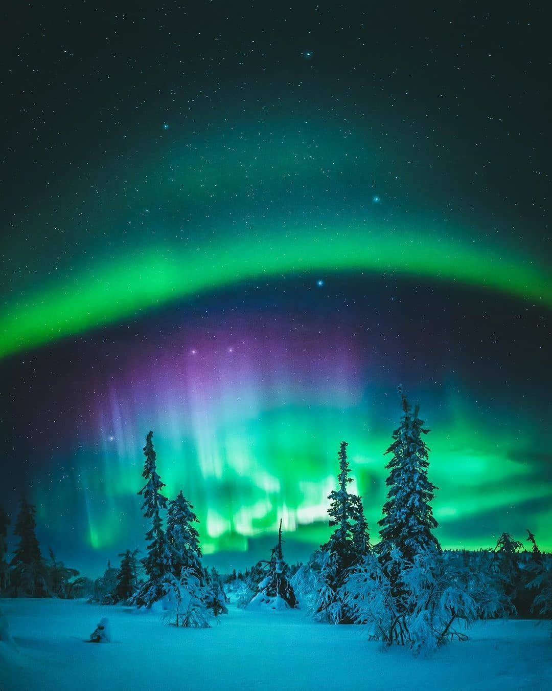 Planet Earth On Instagram Photo By Seffis Bright Nights In Lapland Finland Nature P In 2020 Dreamy Landscapes Northern Lights Northern Lights Photography