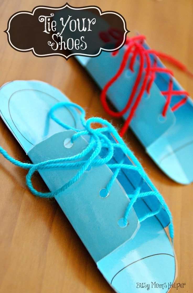 Teaching Your Kids To Tie Their Shoes Lernen Macht Spass
