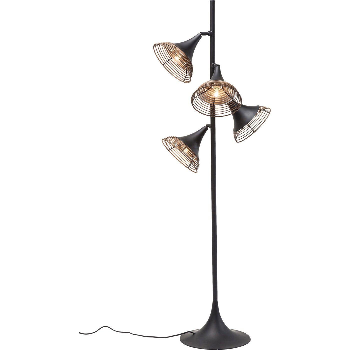 stehlampe rattan. Black Bedroom Furniture Sets. Home Design Ideas