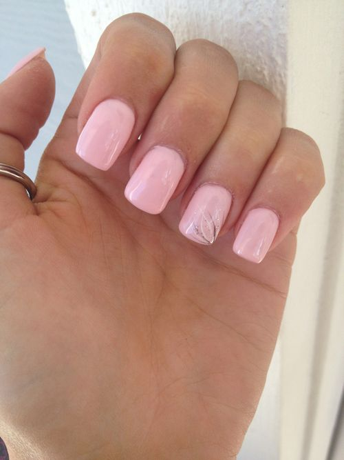 Simple Pale Pink With Images Nails Prom Nails Pink Nails