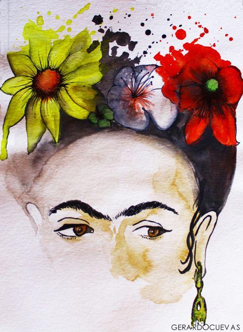 Frida Kahlo watercolor | Frida Kahlo Inspired art & craft ...