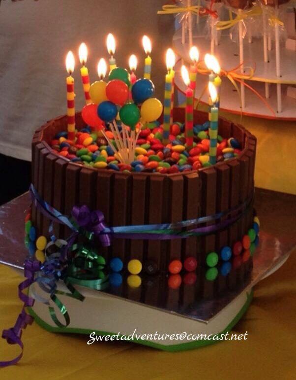 MM Kit Kat Cake Childrens Cakes Pinterest Kit kat cakes
