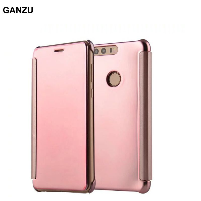 new product 73f94 aae14 Luxury Mirror Flip Case For Huawei Honor 8 FRD-AL00 Smart View Clear ...