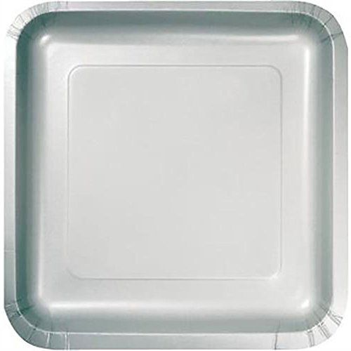 Custom \u0026 Unique Inch 18 Count Bulk Multi-Pack Set of Medium Size Square Disposable Paper Plates w/ Single Colored Simple Modern Plain Wedding Celebration ...  sc 1 st  Pinterest & Custom \u0026 Unique 9\